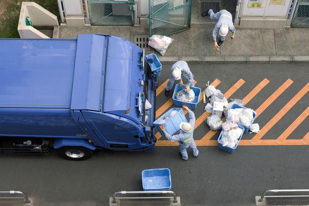 ゴミ収集作業の仕事
